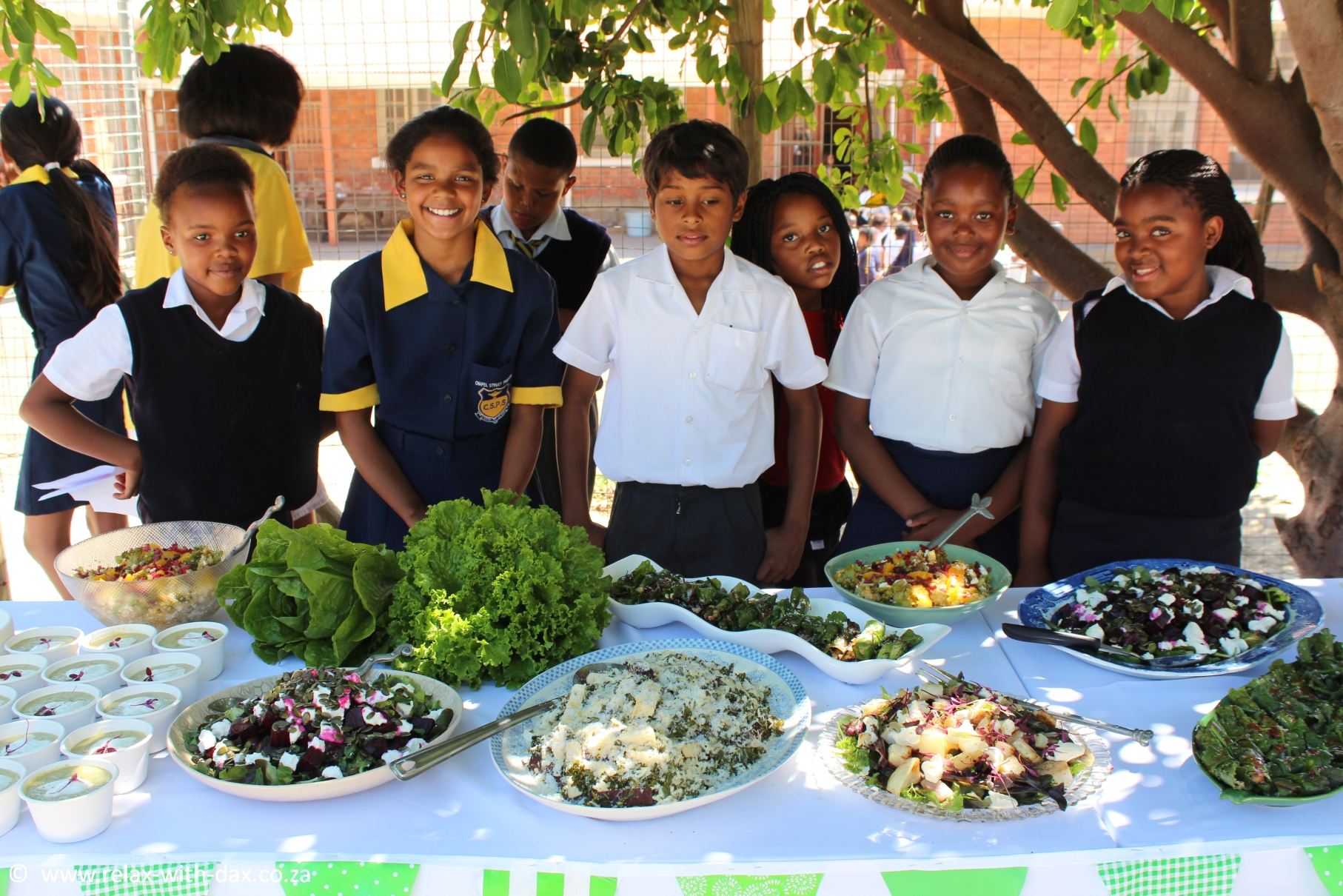 Myschool edible garden harvest table